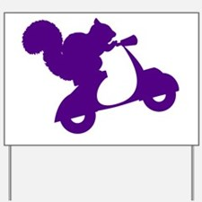 Purple Squirrel on Scooter Yard Sign