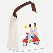 OBAMA HEART VESPA Canvas Lunch Bag