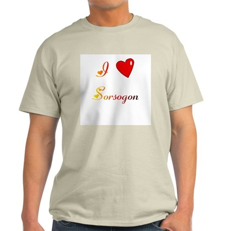 I Love Sorsogon Gifts Light T-Shirt