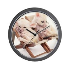 TWO FENNEC FOXES IN CHAIRS Wall Clock