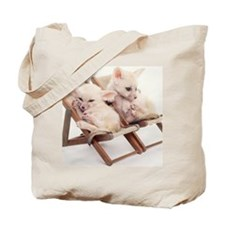 TWO FENNEC FOXES IN CHAIRS Tote Bag