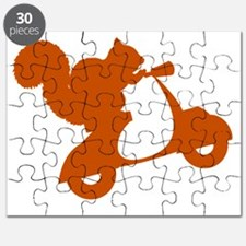 Orange Squirrel on Scooter Puzzle