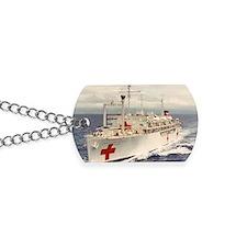 uss sanctuary rectangle magnet Dog Tags