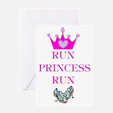Run Princess Run Greeting Card