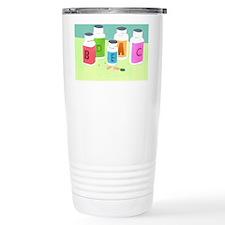 Vitamin bottles Travel Coffee Mug