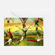 Vintage Victorian Trapeze Acrobats C Greeting Card