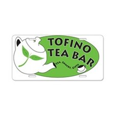 New Tofino Tea Bar Logo Aluminum License Plate