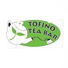 New Tofino Tea Bar Logo Aluminum License Plate