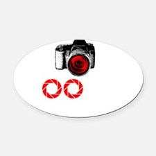 Shooting Everything In Sight Oval Car Magnet