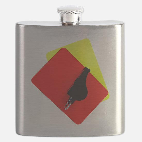 red and yellow card Flask