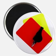 red and yellow card Magnet