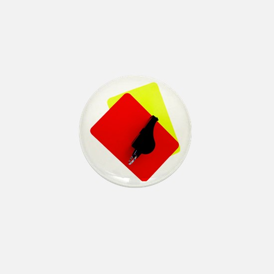red and yellow card Mini Button