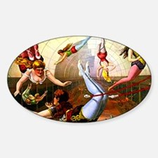 Vintage Flying Trapeze Ladies Circu Decal