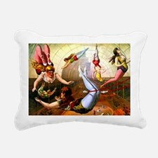 Vintage Flying Trapeze L Rectangular Canvas Pillow