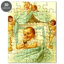 Vintage Victorian New Baby Shower Gift Cher Puzzle