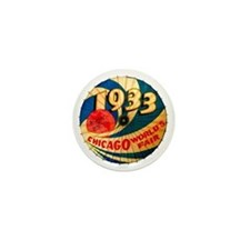 Vintage 1933 Chicago World's Fair Adve Mini Button
