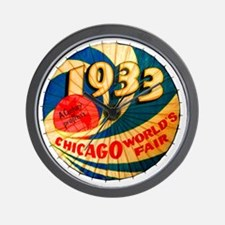Vintage 1933 Chicago World's Fair Adver Wall Clock