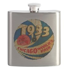 Vintage 1933 Chicago World's Fair Advertisin Flask