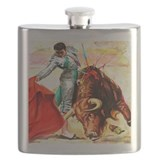 Bullfighting Flask Bottles