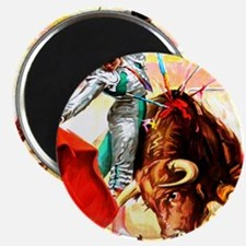 Vintage Mexico Bull Fighter Bullfight Poste Magnet