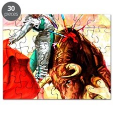 Vintage Mexico Bull Fighter Bullfight Poste Puzzle