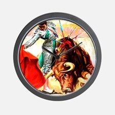 Vintage Mexico Bull Fighter Bullfight P Wall Clock
