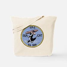uss sea cat patch transparent Tote Bag