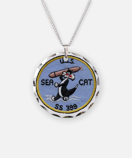 uss sea cat patch transparen Necklace