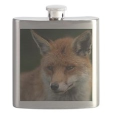 Red Fox Watches and Listens Flask