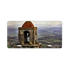San Gimignano bell tower in Aluminum License Plate
