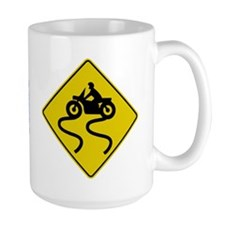 Motorcycle Road Sign Mug
