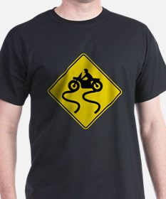 Motorcycle Road Sign T-Shirt