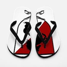 Black Horse Flip Flops