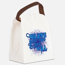 Believe you can Canvas Lunch Bag