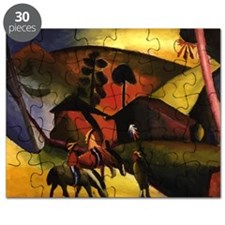 August Macke Native Aericans on horses Puzzle
