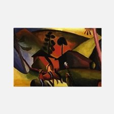August Macke Native Aericans on h Rectangle Magnet