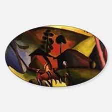 August Macke Native Aericans on hor Sticker (Oval)