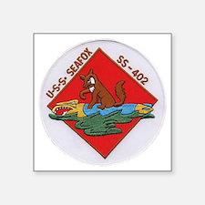"""uss sea fox patch transpare Square Sticker 3"""" x 3"""""""
