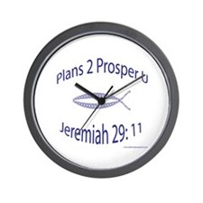 Plans To Prosper You Jeremiah 29 Wall Clock