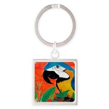 Parrot Head Square Keychain