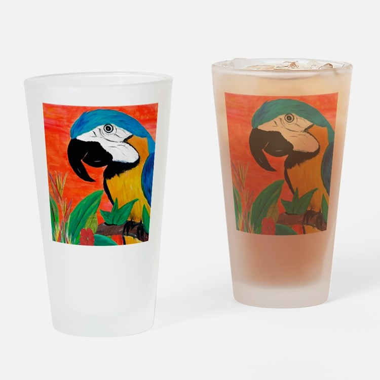 Parrot Head Drinking Glass