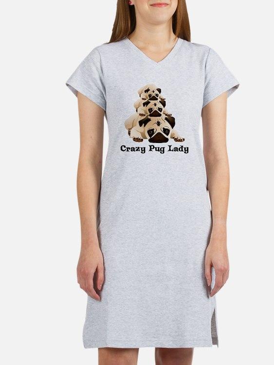 Crazy Pug Lady Women's Nightshirt