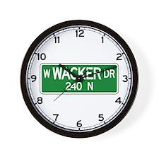 Wacker Dr., Chicago (US) Jr Wall Clock