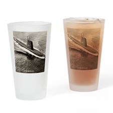 uss sea fox framed panel print Drinking Glass