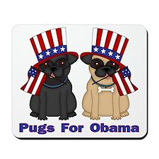 Pugs For Obama Mousepad