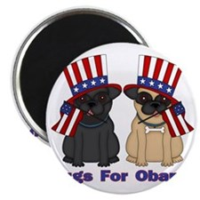 Pugs For Obama Magnet