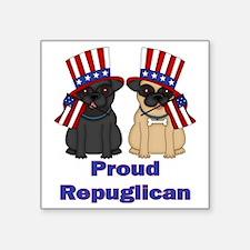 """Proud Repuglican Square Sticker 3"""" x 3"""""""