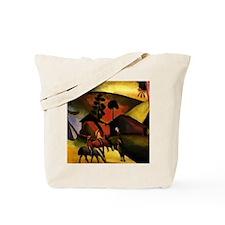 August Macke Native Aericans on horses Tote Bag