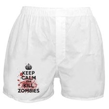 Keep Calm and Kill Zombies Boxer Shorts