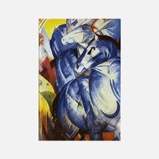 Franz Marc The Tower of Blue Hors Rectangle Magnet